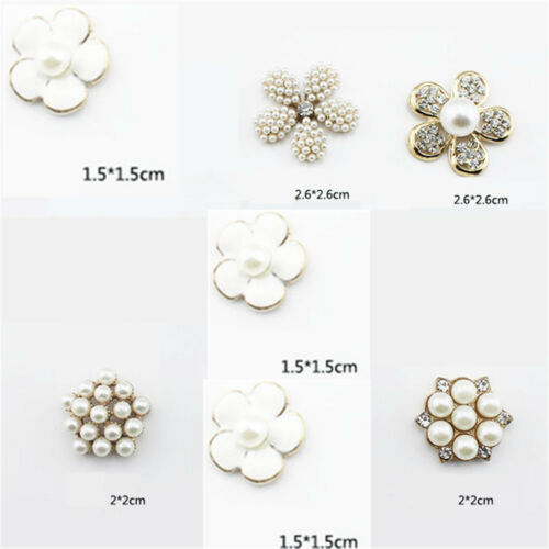 24mm Rhinestone Crystal Pearl  Buttons DIY Embellishments Phone Decor Fashion