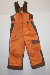 Obermeyer-Indy-Bib-Kid-039-s-Children-039-s-Sz-4-Extendable-Legs-Orange-and-Brown-I-GROW
