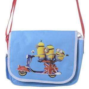 8d863692f4 Image is loading OFFICIAL-Minions-British-Boys-Messenger-Shoulder-School-Bag -