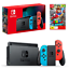 Nintendo-Switch-Neon-Joy-Con-Console-with-Super-Mario-Odyssey-Bundle-NEW thumbnail 1
