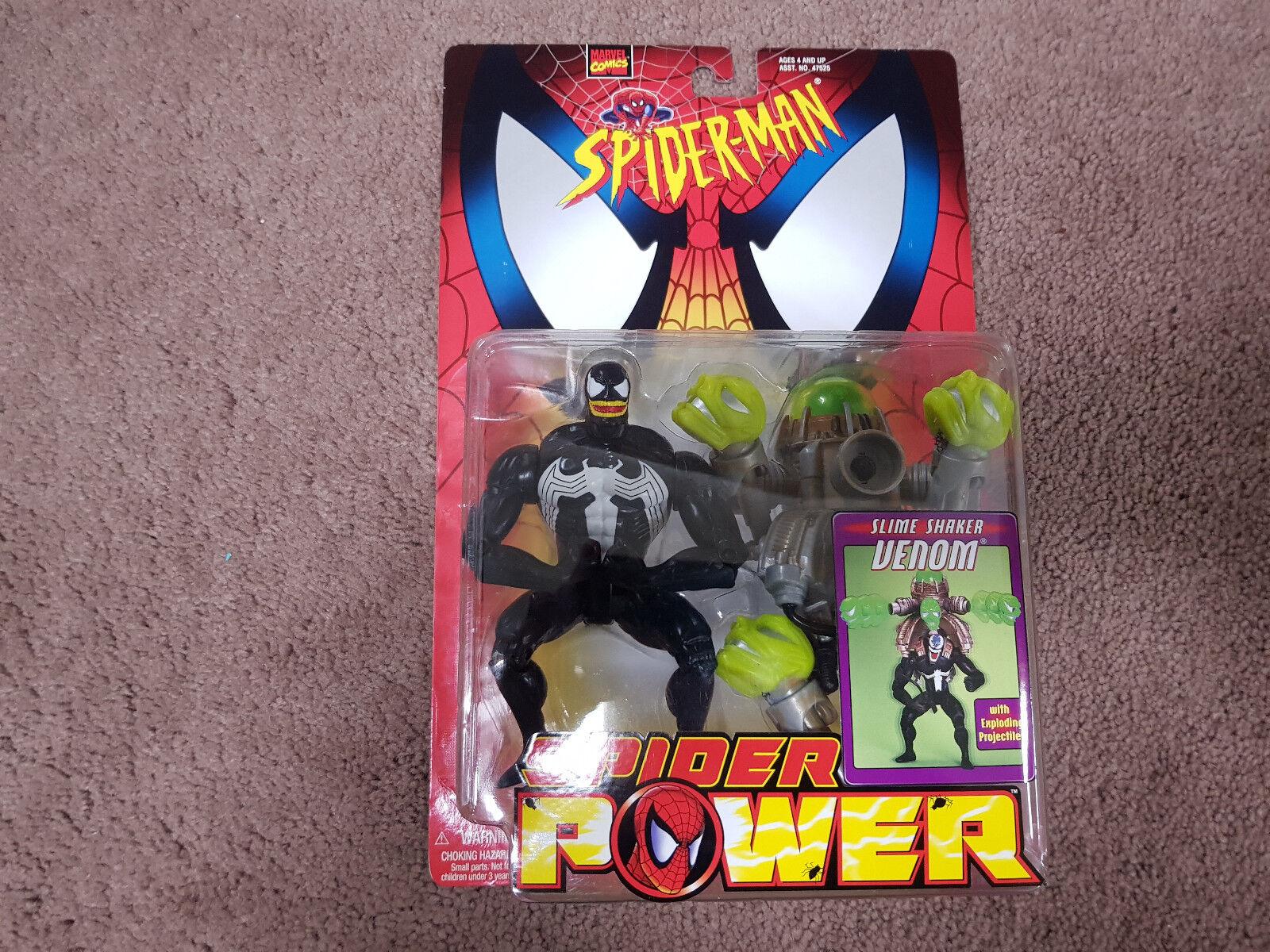 Spider-Man  Slime Shaker Venom   5  Carded Figure  Toybiz 1998