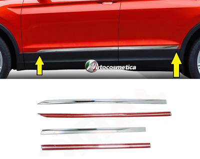 Profili Cornici Portiere Acciaio Cromo Cromate SEAT ATECA 2016/> nuovo modello