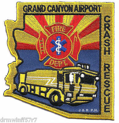 "Airport - Grand Canyon Airport  Crash - Rescue, AZ  (3.75"" x 4"" size) fire patch"