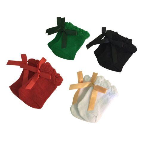 Red Knee Highs set of 4 Green Doll socks Black Ivory Fits 18 Inch Dolls
