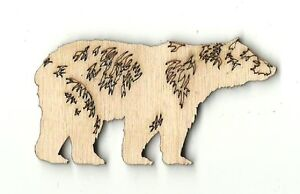 Bear - Unfinished Laser Cut Out Wood Shape Craft Supply BER10