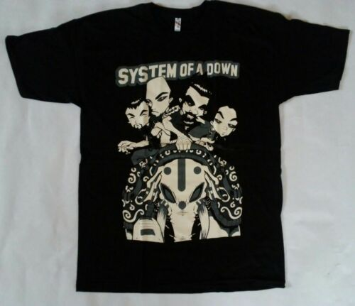Free Same Day Shipping SYSTEM OF A DOWN Animated Group Shirt Size MEDIUM