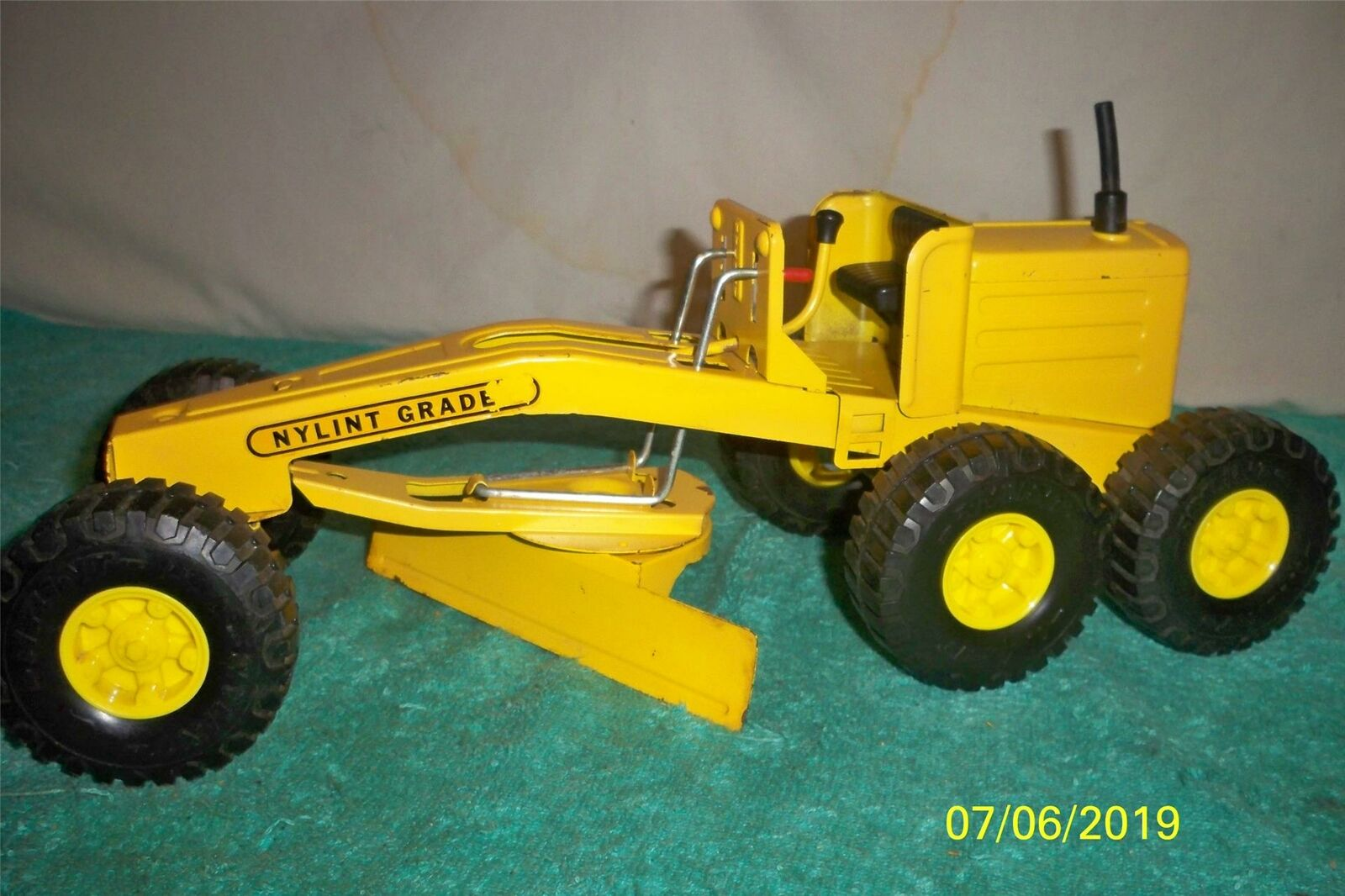 Nylint 3 Handle Road Grader 1970's Nice Fully Working old Toy 16   Long