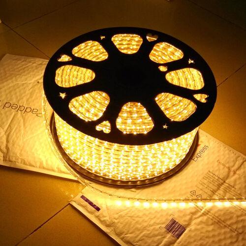 Warm White 120V 130V SMD3528 Flexible LED strip rope Celling Lighting Custom Cut