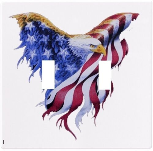 Eagle Flag Patriotic Wallplate Wall Plate Decorative Light Switch Plate Cover