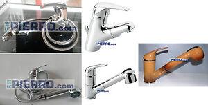 Miscelatore-lavabo-lavello-doccetta-estraibile-doccia-rubinetto-bagno-cucina-ITA