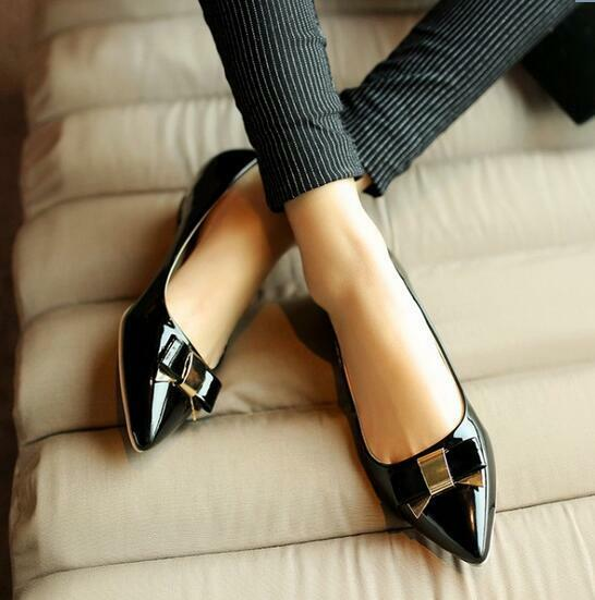 Ballerinaschuhe mokassins damenschuhe elegant absatz schwarz absatz elegant 2.5 cm komfortabel 1f7f0b