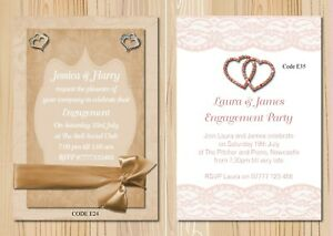 Engagement Party Invitations Cards Or Thank You Cards With Free