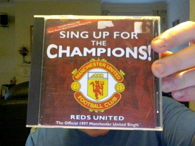 SING UP FOR THE CHAMPIONS CD SINGLE MAN UTD REDS UTD FOOTBALL FREE XMAS UK POST
