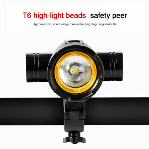 Rear Lamp Headlamp BYCICLE Zoomable T6 LED Front Light Rechargeable Headlight