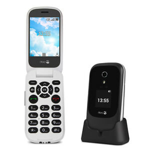 Details about Doro 7060 Black Easy to Use 2 8 Inch 4GB 3MP 4G Mobile Phone  New
