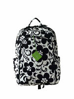 Vera Bradley Laptop Backpack In Night & Day With Black Interior -