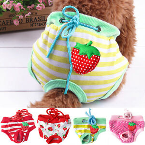 Small-Pet-Dog-Puppy-Diaper-Sanitary-Pants-Female-Girl-Underwear-M-L-XL-Welcome