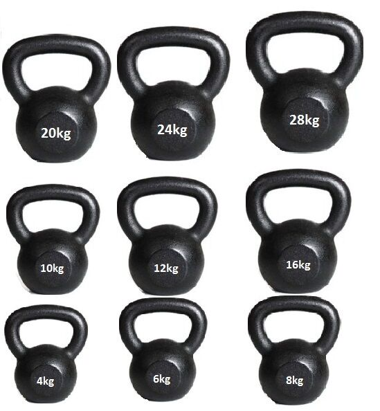 Kettlebells hierro fundido 4kg a 50kg gimnasio en casa fitness