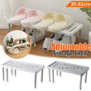 Expandable Under Sink Rack Stainless Steel Adjustable Shelf Storage Organizer