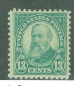 US-622 BENJAMIN HARRISON 13c ISSUED 1925-26 MNH