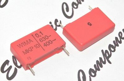 5pcs WIMA MKP10 0.1uF 630V 5/% pitch:15mm Capacitor 0.1µF 100nF