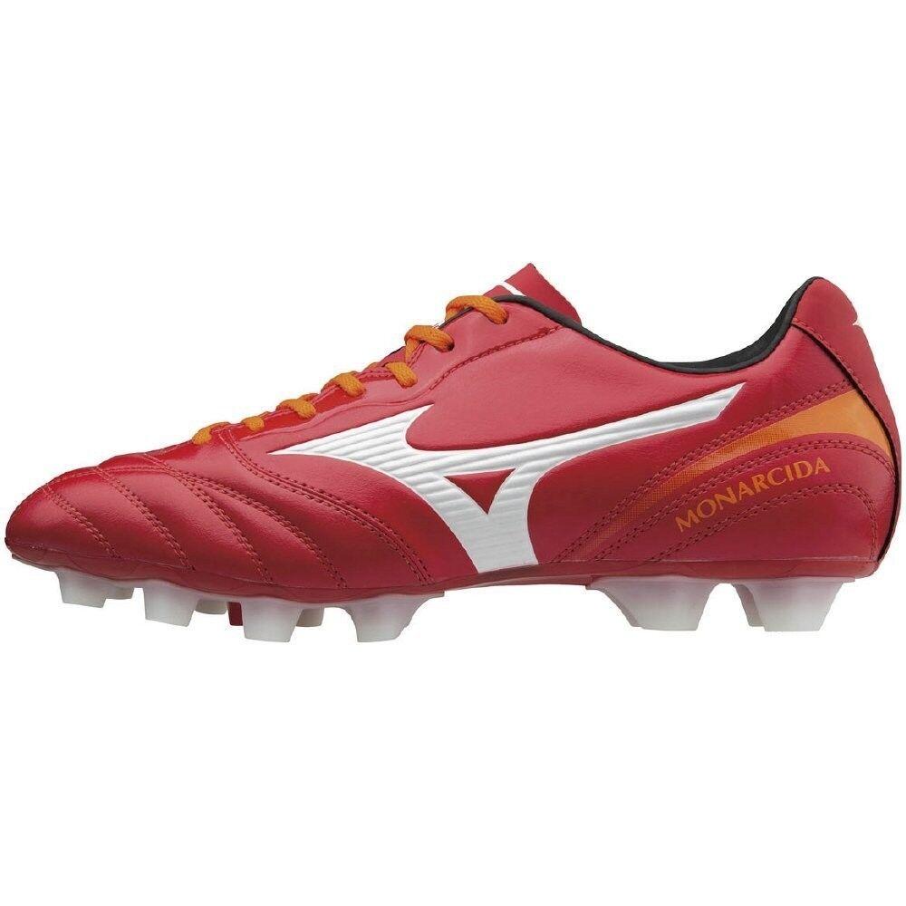 MIZUNO soccer Spike MONARCIDA 2 SW MD P1GA1722 ROT × Weiß Weiß × × Orange 1eff44