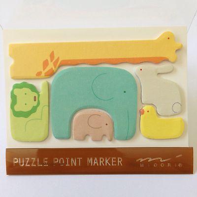 Kawaii Page Marker- Girrafe/Lion/Elephant & baby/Rabbit/Chick -post 'em -Midori