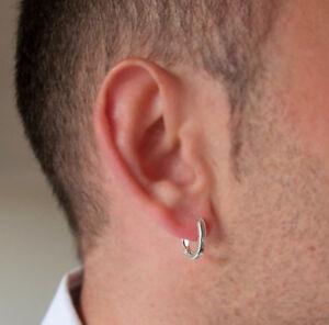 Image Is Loading Sterling Silver Earring For Men 039 S