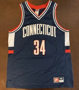 brand new c20e6 198ee Details about Rare Vintage Nike Ray Allen UCONN Connecticut Huskies  Basketball Jersey