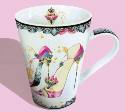 Twilight Head Over Heels Pink Stiletto Shoe Mug By Kate Fellows Beautiful Gift