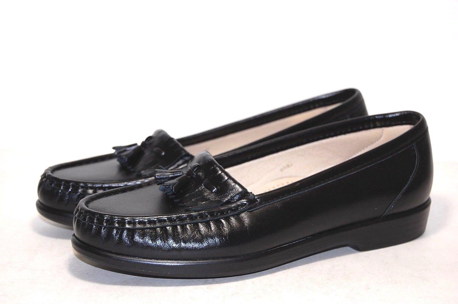 SAS Wouomo Softie Lofer nero Leather scarpe  0073 -013 Wide  vendita calda online