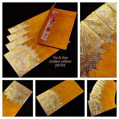 Pink /& Gold Jute Mottle Money Envelope Wedding Invite Shagun Salami Gift Wallet