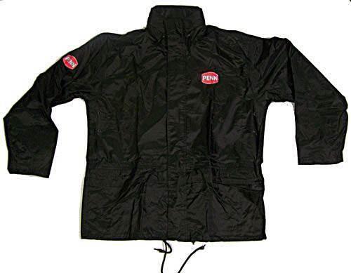 Penn Regenanzug schwarz Jack und Hose verschiedene Größen