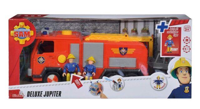 Simba 109251036 - Feuerwehrmann Sam Jupiter 2.0 mit 2 Figuren, Feuerwehrauto  Fe