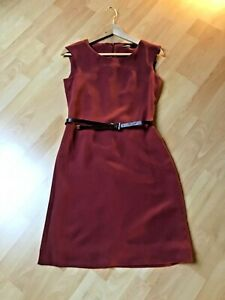 multiple colors amazing selection best cheap Details zu Esprit Kleid Bordeaux Rot mit Gürtel, Gr. 32 XS