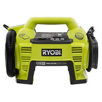 Ryobi 18-Volt One Plus Cordless Green Inflator P731 Tools and Accessories