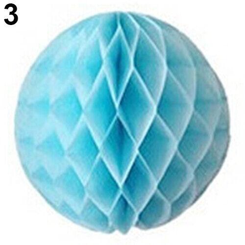 Tissue Paper Honeycomb Lantern Ball Pom Poms Wedding Party Baby Living Deco Home