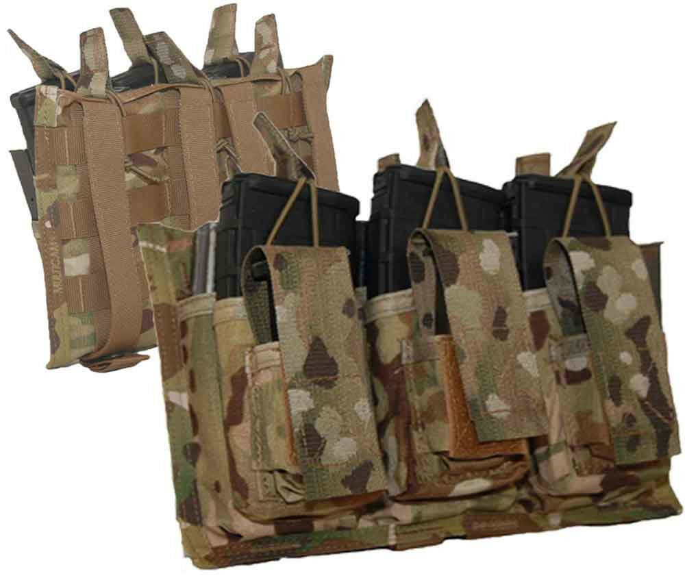 ATS Tactical 3X6 Pistol & 556 Rifle Magazine Shingle Pouch-Multicam-Coyote