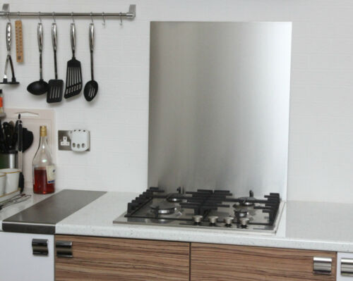 Brushed Stainless Steel Cooker SPLASHBACK 1.2mm Thick 60 x 60cm 600 x 600mm