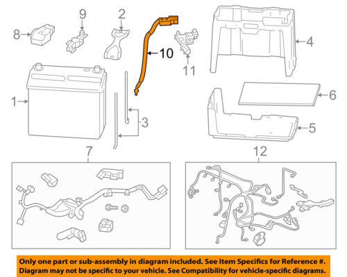 HONDA OEM 14-15 Civic Battery-Negative Cable 32600TR0A00