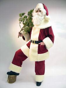 Weihnachtsmann-aus-Waschsamt-mit-Schaefchenpluesch-Jacke-Hose-Muetze-Guertel