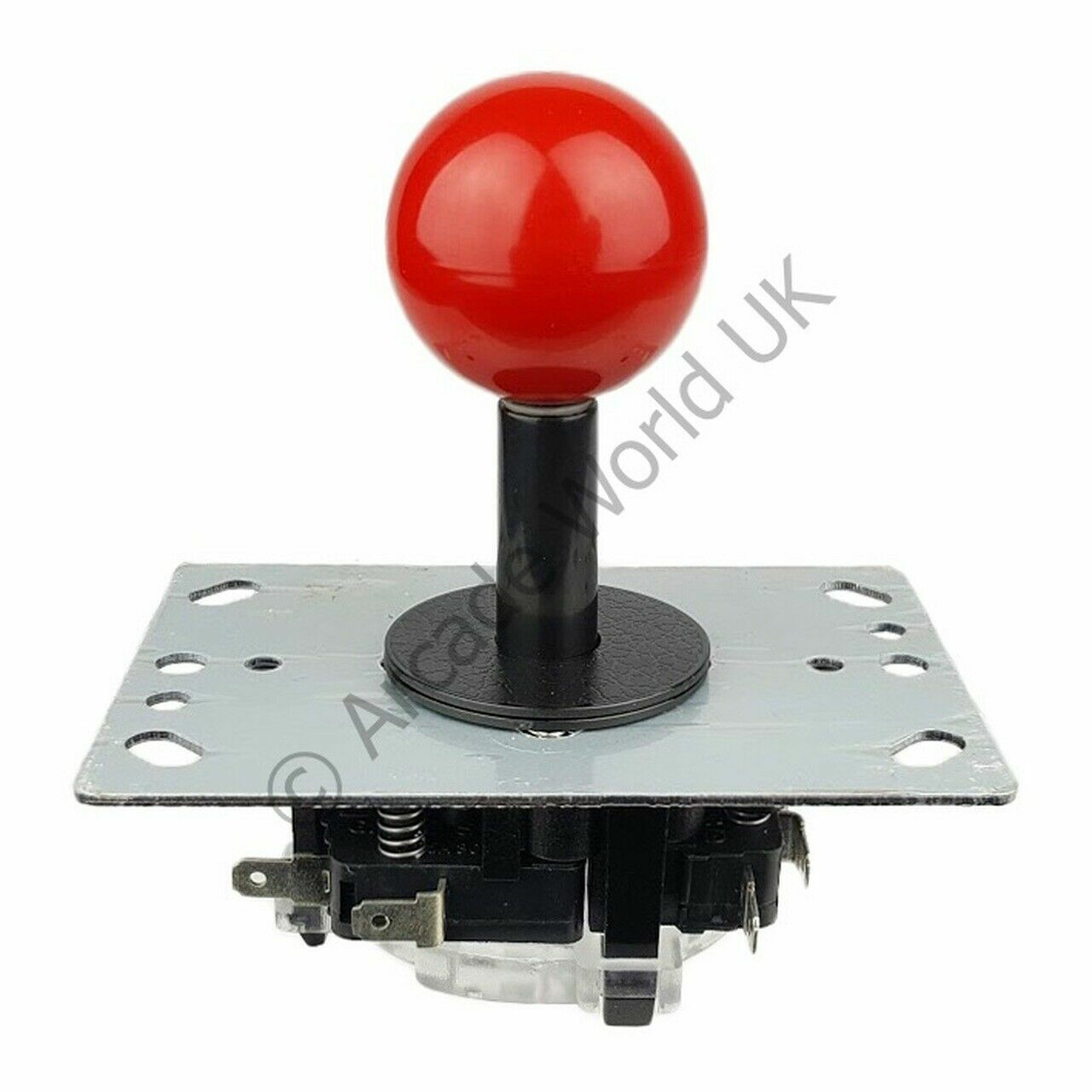 AWUK Balltop Joystick with Black Shaft Cover - 4.8mm Microswitches - 4/8 Way