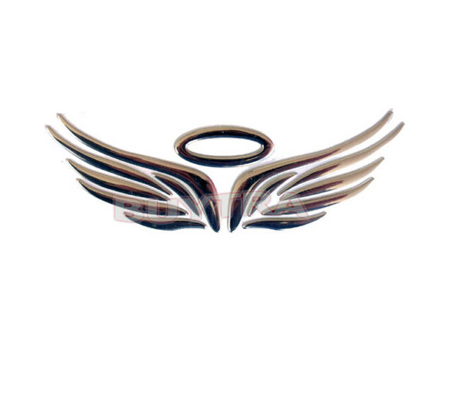 Silver 3d Angel Fairy Wings Car Auto Truck Logo Emblem Badge Decal