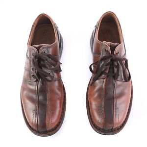 Details about Clarks Brown Leather Split Toe Lace Up Oxfords Casual Shoes  Mens 11 SN 70852