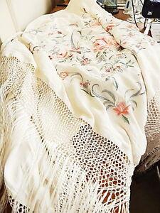 Ralph Lauren Hm Secret Garden Azalea Floral Piano Shawl Throw Blanket Silk New Ebay
