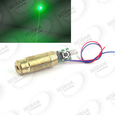 3VDC 532nm Green Beam Laser Lazer 50mW Diode Module Stage Lighting Parts 13mm D
