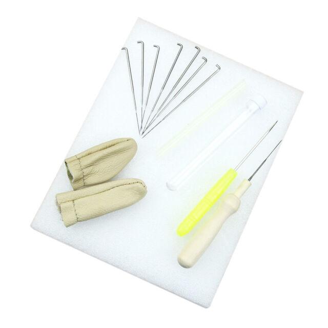 1set Aguja Fieltro Starter Kit de herramientas de Lana Fieltro Aguja Mat Accesorios A7Q7