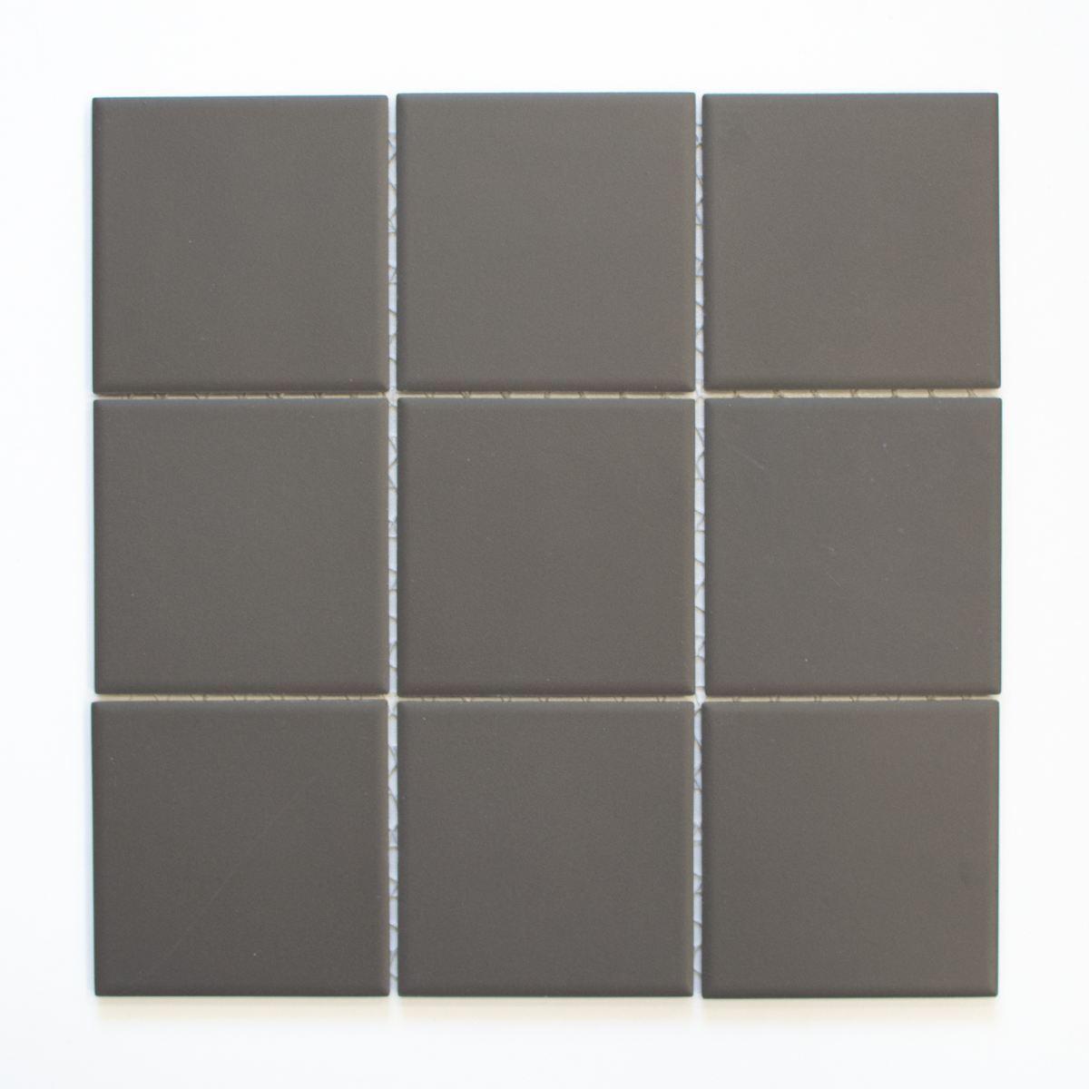 Mosaik Fliese Keramik braun unglasiert Wand Dusche WC | 14-CU952_f |10 Matten