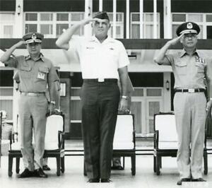 Photo ~ Colonel Hadley N.Thompson ~ Formal introduction ~ Taipei 1978 ~ Rare