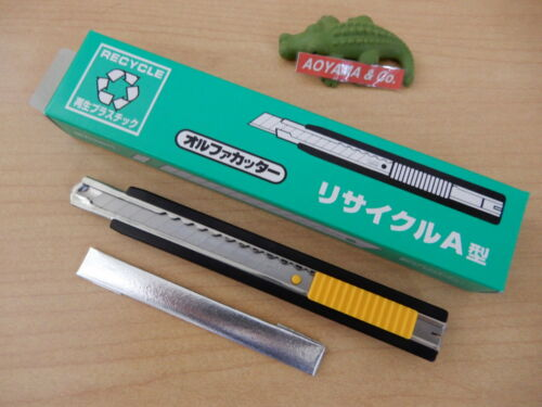 Made in Japan OLFA 154K A-type 9mm Snap-off Blade Cutter with 2 Extra Blades
